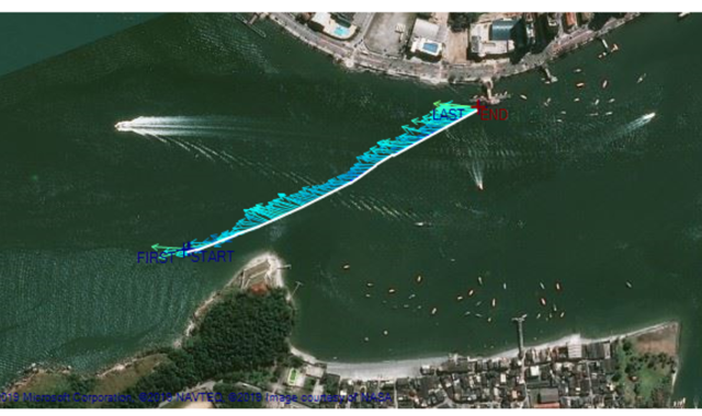 Complex tidal flows in the Santos Estuary explored with a vessel-mounted ADCP