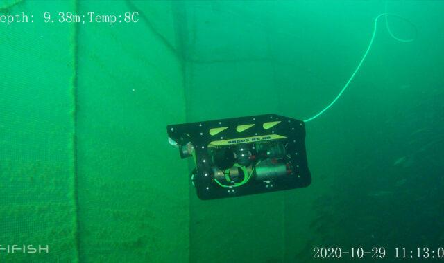 A DVL enhancing autonomous navigation for ROV net inspections on fish farms