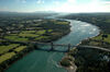 The natural laboratory of the Menai Strait is an ideal location for the measurement of turbulence in energetic tidal flows.  (Photo: David Roberts)